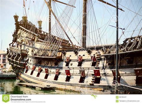 old boat genoa galeone neptune old wooden ship tourist attraction genoa