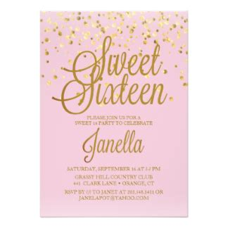 Sweet 16 Invitations Zazzle Sweet Sixteen Invitations Templates
