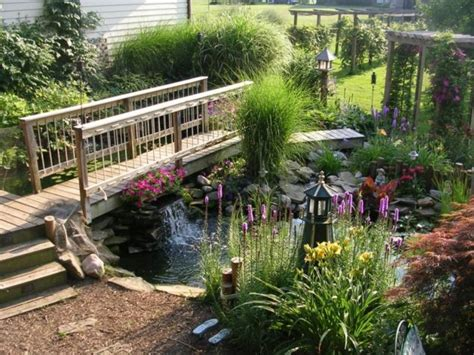 Pond Landscaping Ideas 15 Inspirative Garden Pond With Bridge That You Would Like To See