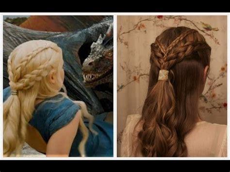 "daenerys targaryen ""two swords"" inspired braids. youtube"