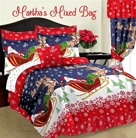santas reindeer christmas holiday red comforter set king