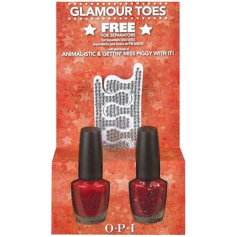 Opi Animal Istic opi toes animal istic gettin miss piggy with