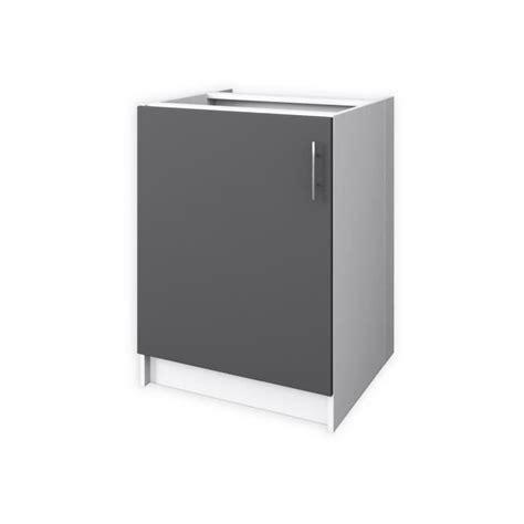 porte 60 cm meuble bas de cuisine 1 porte 60 cm gris mat achat vente elements bas meuble bas cdiscount