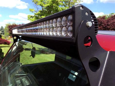 Light Bar Installation by Wrangler Jk Light Bar Installation Raxiom 50 Quot Led Hyline Jeepfan