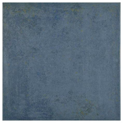 Blue Ceramic Floor Tile Merola Tile Rocinante Azul 13 In X 13 In Ceramic Floor And Wall Tile 17 07 Sq Ft