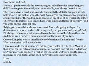 Thank You Letter Parents The Groom groom and bride message to their parents everafterguide