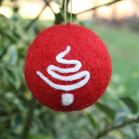 needle felted christmas ornament with tree detail free