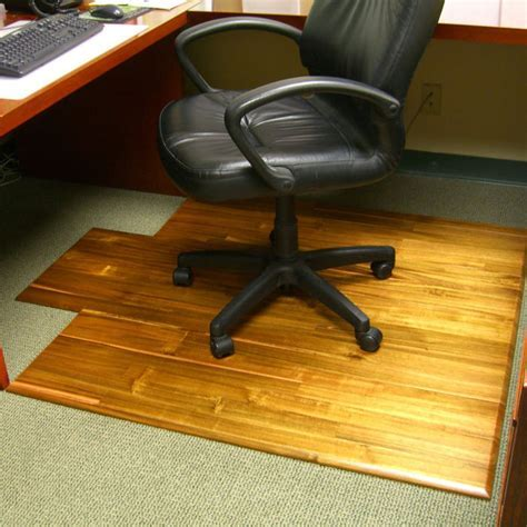 Hardwood Office Chair Mat   The Green Head