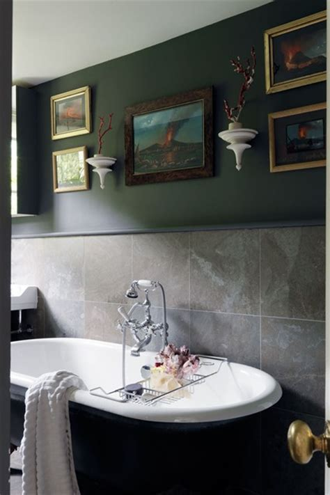 dark paint in bathroom gallery wall and dark paint roll top bath bathroom