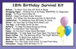 18th birthday survival kit in a can