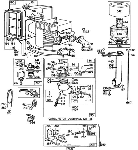 briggs and stratton carburetor parts diagram briggs and stratton 200431 0158 99 parts diagram for