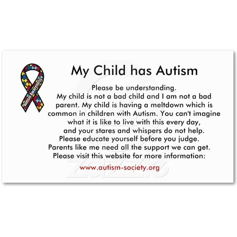 autism wallet card template 13 best images about autism on free printable