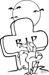 imagenes de unas para jalowin dibujo de mano de zombi saliendo de una tumba en halloween