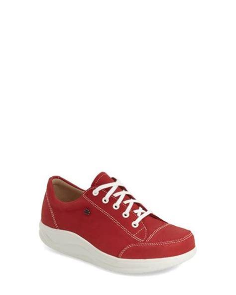 red comfort shoes finn comfort finnamic by ikebukuro walking shoe in red
