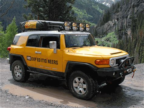 toyota fj cruiser roof top tent rack expedition 07 2014