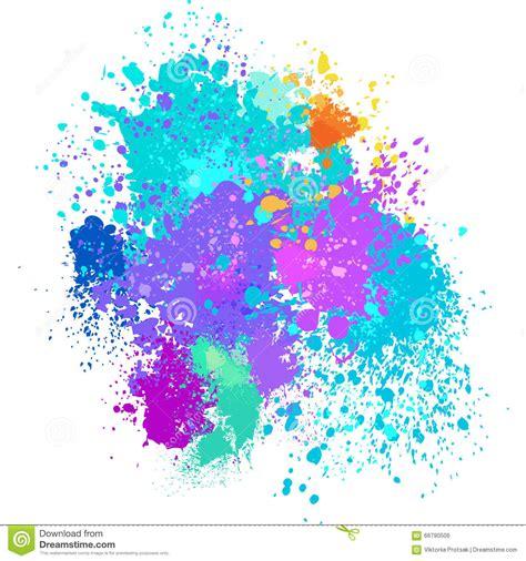 color background of paint splashes stock photo image