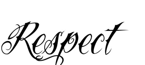 6 nice respect tattoo designs