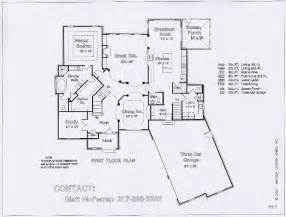 Floor Plan Blueprint floor plans blueprints first floor great room kitchen dining room