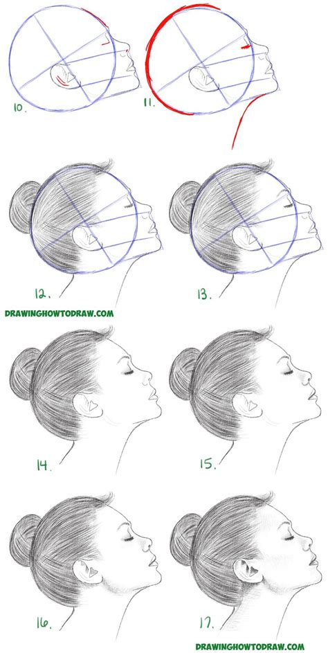 6 Drawing Techniques by How To Draw A From The Side Profile View