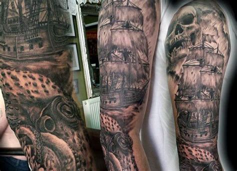 ship sleeve tattoo designs collection of 25 sea ship and octopus tattoos on sleeve