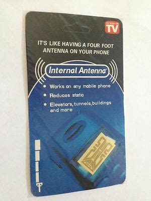 cell phone antenna signal reception booster as seen on tv ebay