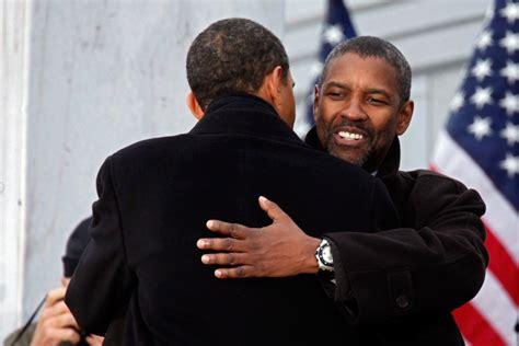 dennis haysbert barack obama in january 2009 president obama and denzel washington