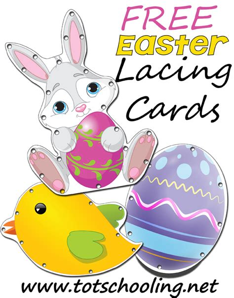 printable lacing card templates free easter lacing cards totschooling toddler