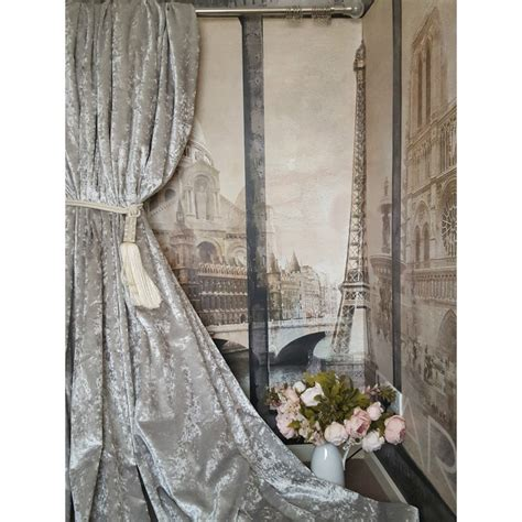 crushed velvet curtains grey new heavenly heavy dove grey crushed velvet 113 quot d 102 quot w