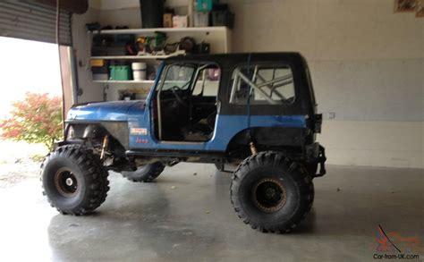 jeep yj rock crawler 1989 jeep wrangler rock crawler mud truck