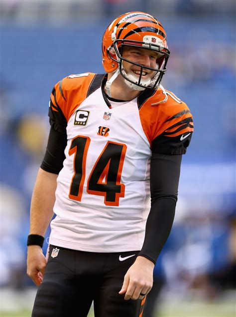 andy from indy style andy dalton in cincinnati bengals v indianapolis colts