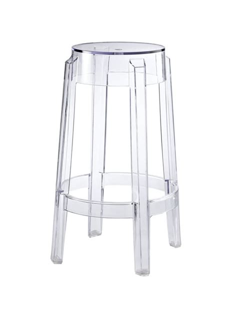 Clear Stool clear counter stool brickell collection modern furniture