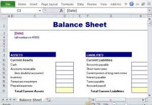Easy Balance Sheet Template by Free Financial Report Templates For Excel