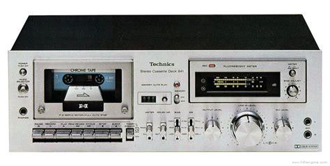 Stereo Cassette Deck by Technics Rs 641 Manual Stereo Cassette Deck Hifi Engine