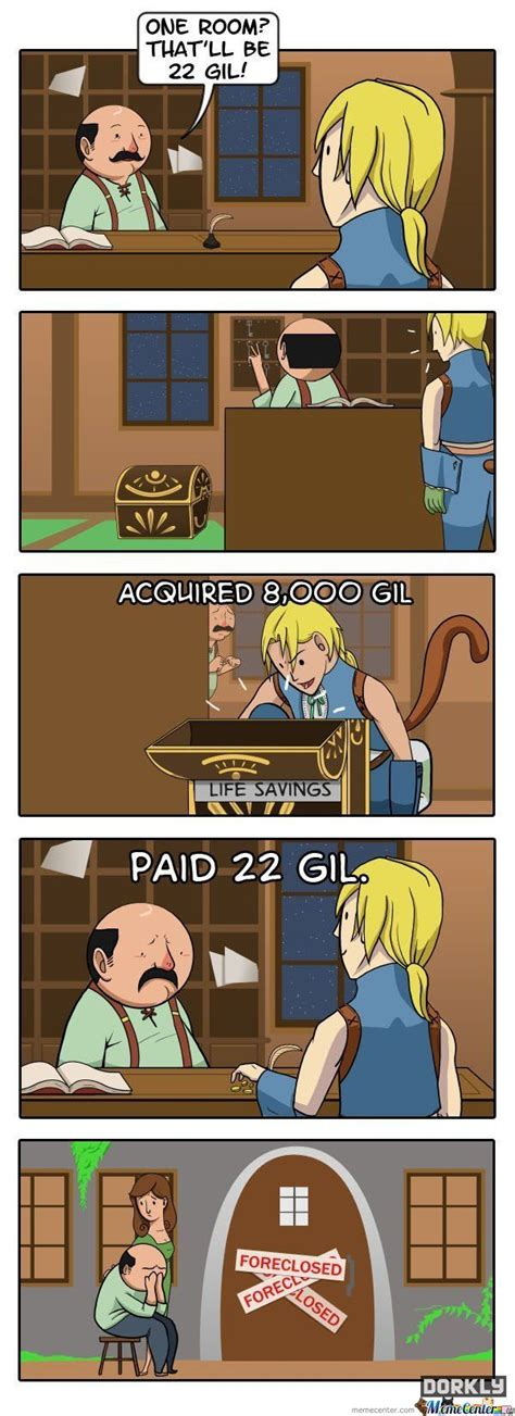 Final Fantasy Memes - awesome final fantasy comic by dorkly by kostasryu meme