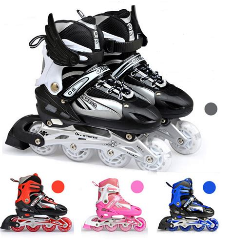 adjustable four wheel roller skates shoes high quality