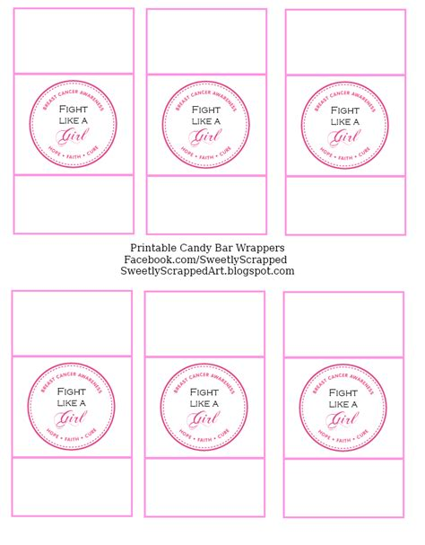 chocolate bar wrappers template free breast cancer awareness free printables techblogsearch