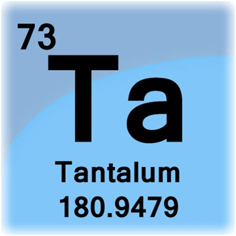 tantalum element cell science notes and projects