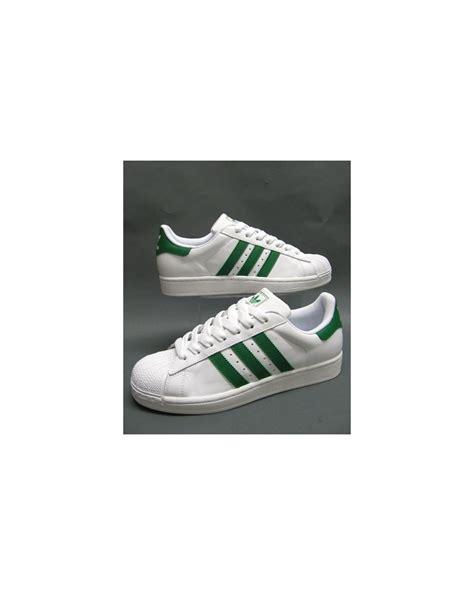 adidas superstar 2 trainers white green originals adidas