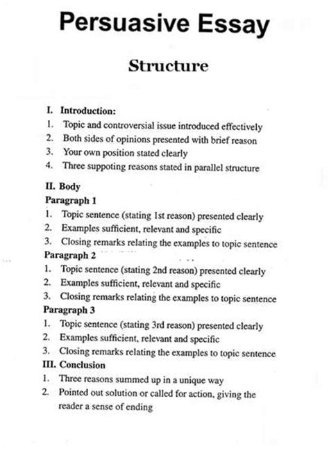 persuasive research paper outline persuasive essay outline definition essay sles