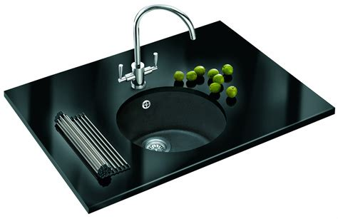 fragranite kitchen sinks franke rotondo fragranite graphite 1 0 bowl undermount sink