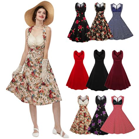 swing style 50 s 60 s rockabilly dress vintage style swing pinup retro