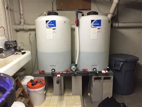 automatic water for basement if you own a saltwater mixing station your