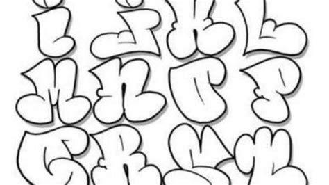 bubble letters abjad grafiti letter