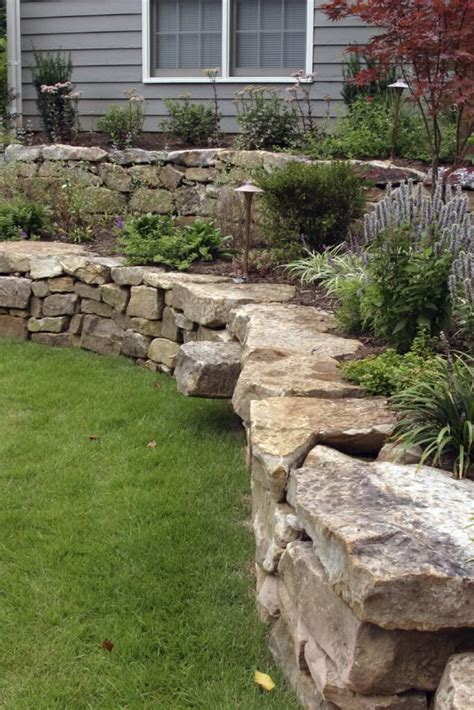 27 Backyard Retaining Wall Ideas And Terraced Gardens Rock Garden Wall