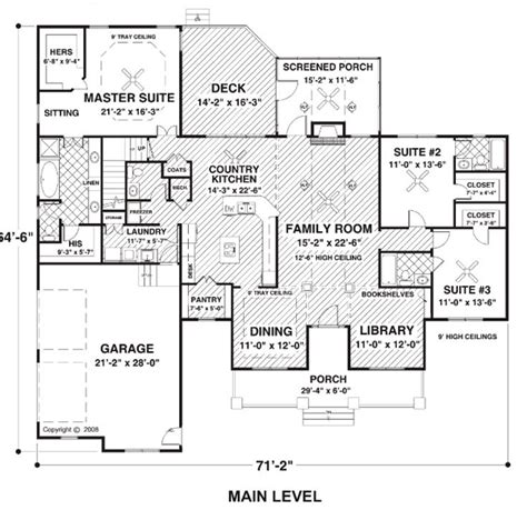Country Farmhouse Ranch House Plan 74834 Ranch House Plans With Screened Porch