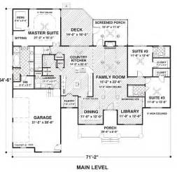 open space house plans country farmhouse ranch house plan 74834