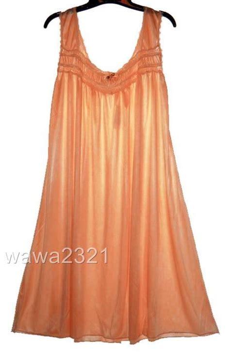 Original Hm Soft Lace Sleepwear orange ruffle satin lace sleeveless womens nightgown