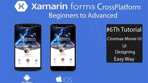 xamarin forms tutorial youtube xamarin forms cinemax ui design tutorial 6 youtube
