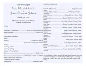 program templates for word 8 word wedding program templates free free