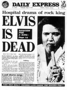 The death of elvis presley how the daily express reported it 37 years